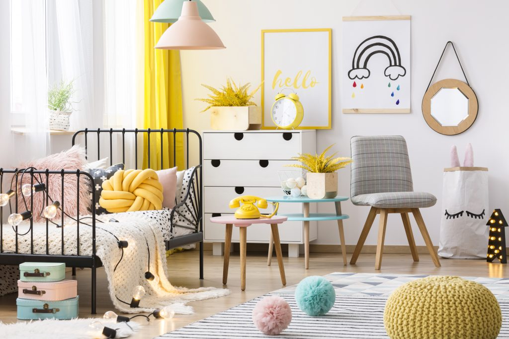 color scheme of children's rooms