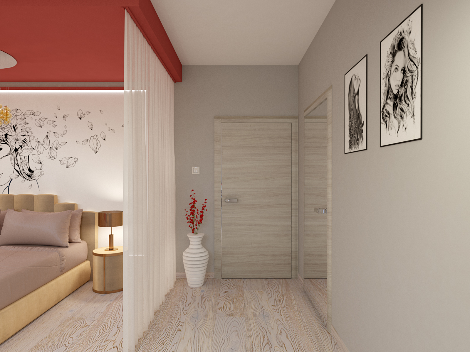 3d render child's room