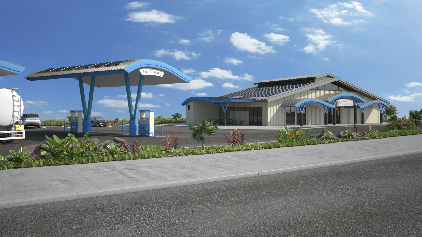 Exterior design gas station