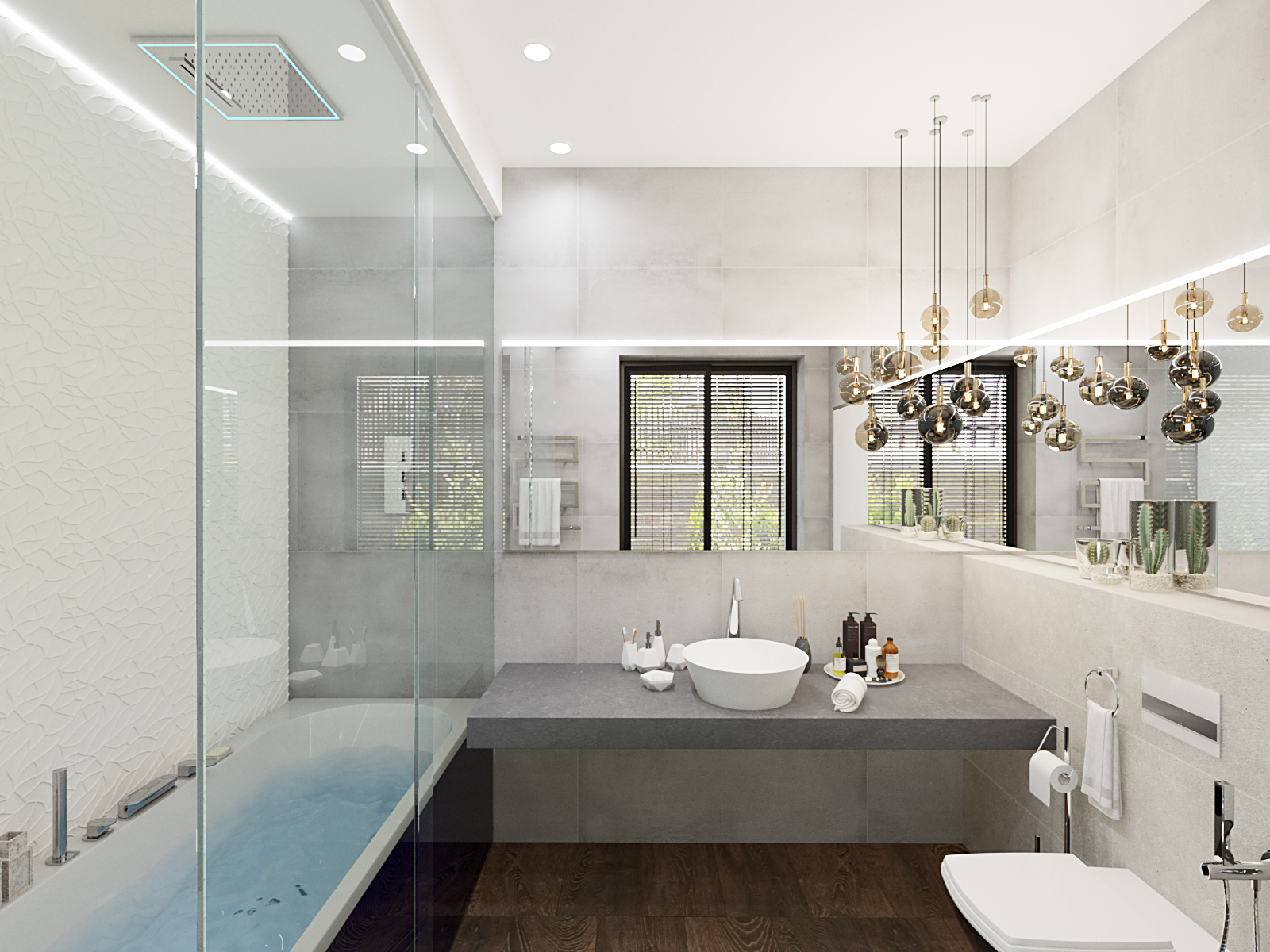 3D visualization bathroom interior